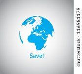 save the world vector symbol | Shutterstock .eps vector #116981179