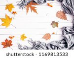 autumn composition. frame made... | Shutterstock . vector #1169813533