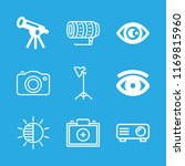 lens icons set with projector... | Shutterstock .eps vector #1169815960