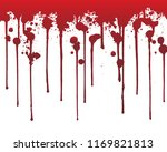 dripping blood  or red paint... | Shutterstock .eps vector #1169821813