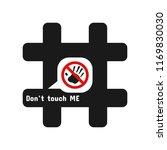 black hashtag with white speech ... | Shutterstock .eps vector #1169830030