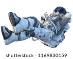 astronaut on white. mixed media | Shutterstock . vector #1169830159
