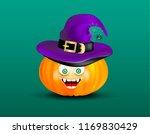 cute happy smiling pumpkin head ... | Shutterstock .eps vector #1169830429