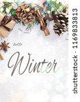 winter holidays composition.... | Shutterstock . vector #1169833813