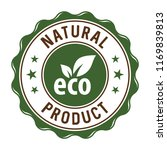 natural product label stamp | Shutterstock .eps vector #1169839813