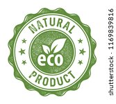 natural product label stamp | Shutterstock .eps vector #1169839816