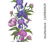 floral seamless frame border... | Shutterstock .eps vector #1169843419