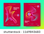 flyer of electronic music night ... | Shutterstock .eps vector #1169843683