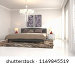 bedroom interior. 3d... | Shutterstock . vector #1169845519