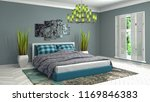 bedroom interior. 3d... | Shutterstock . vector #1169846383