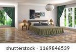bedroom interior. 3d... | Shutterstock . vector #1169846539