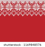 norway festive sweater fairisle ... | Shutterstock .eps vector #1169848576