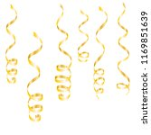 gold streamers. serpentine... | Shutterstock .eps vector #1169851639