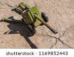 old broken cannon toy  | Shutterstock . vector #1169852443