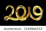 2019 happy new year background. ... | Shutterstock . vector #1169866513
