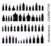 vector bottles and glasses... | Shutterstock .eps vector #1169867740