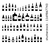 vector bottles and glasses icon ... | Shutterstock .eps vector #1169867743