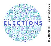 election and voting concept in... | Shutterstock .eps vector #1169869903