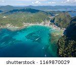 aerial view of boats around the ...   Shutterstock . vector #1169870029