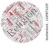 vector conceptual religion  god ... | Shutterstock .eps vector #1169871229