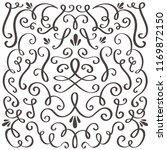 decorative swirls. swirled... | Shutterstock .eps vector #1169872150