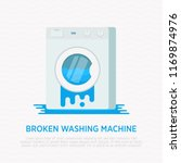 Broken Washing Machine With...