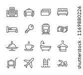 set simple line icon of related ...   Shutterstock .eps vector #1169880226