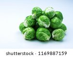 fresh bruxelles sprouts  | Shutterstock . vector #1169887159