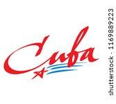 cuba lettering design for t... | Shutterstock .eps vector #1169889223