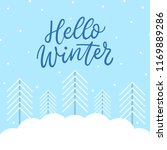 winter background with trees... | Shutterstock .eps vector #1169889286