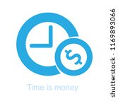 time is money  compound... | Shutterstock .eps vector #1169893066