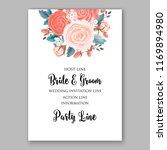 wedding invitation template... | Shutterstock .eps vector #1169894980