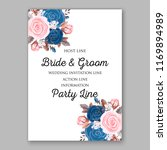 wedding invitation template... | Shutterstock .eps vector #1169894989
