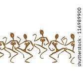 ancient dance sketch  seamless... | Shutterstock .eps vector #116989900