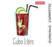 cuba libre alcohol cocktail... | Shutterstock .eps vector #1169899753