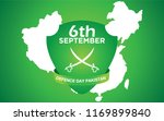 6th septermber. happy defence... | Shutterstock .eps vector #1169899840