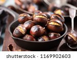 Roasted chestnuts served in...