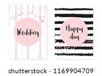wedding card invitation with... | Shutterstock .eps vector #1169904709