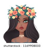 cute girl illustration.... | Shutterstock . vector #1169908033
