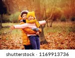 Autumn Portrait Of Happy Kids...