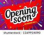 opening soon banner template...   Shutterstock .eps vector #1169914090