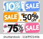 set sale web banners design... | Shutterstock .eps vector #1169921446