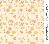cute flower background | Shutterstock .eps vector #1169921926