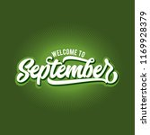welcome to september  hello... | Shutterstock .eps vector #1169928379
