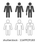 icon person businessman set | Shutterstock .eps vector #1169929183
