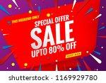 sale banner template red | Shutterstock .eps vector #1169929780