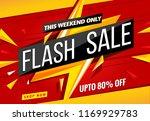 weekend flash sale banner... | Shutterstock .eps vector #1169929783