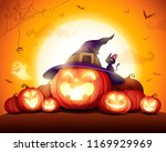 halloween celebration fun party.... | Shutterstock .eps vector #1169929969