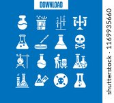 glassware icon. 16 glassware... | Shutterstock .eps vector #1169935660