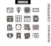 reminder icon. 16 reminder... | Shutterstock .eps vector #1169935666
